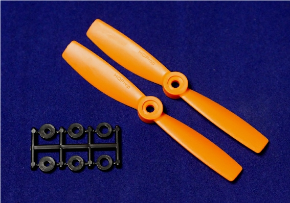 HQ-Prop 5x4.5 Bullnose Set (2x CW) Orange