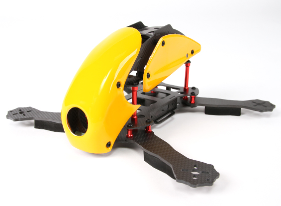 New RoboCat 270mm Racer Quad(Yellow)カーボンフレームキット