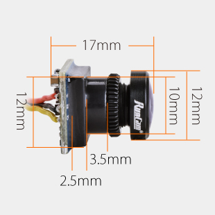 RunCam Nano 650TVL 2.1mm 1/3 CMOS 4:3 FPV Camera