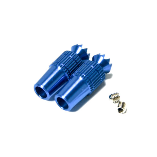 SECRAFT Transmitter Stick Ends V1 Blue - FUTABA