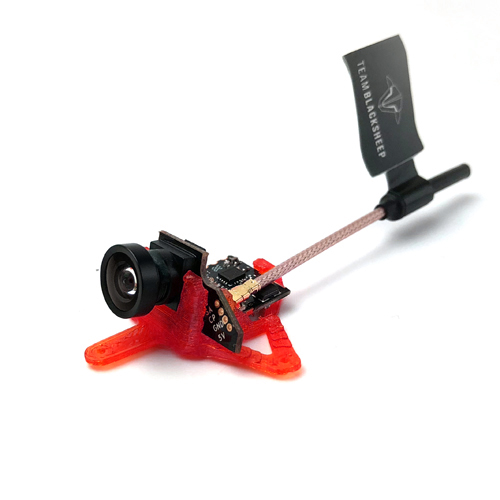 TBS Tiny Camera Mount-20 Degrees(Red)