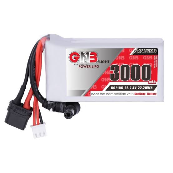 FatShark用大容量 3000mAh 2S 7.4V 5C LiPo Battery with XT30 Plug